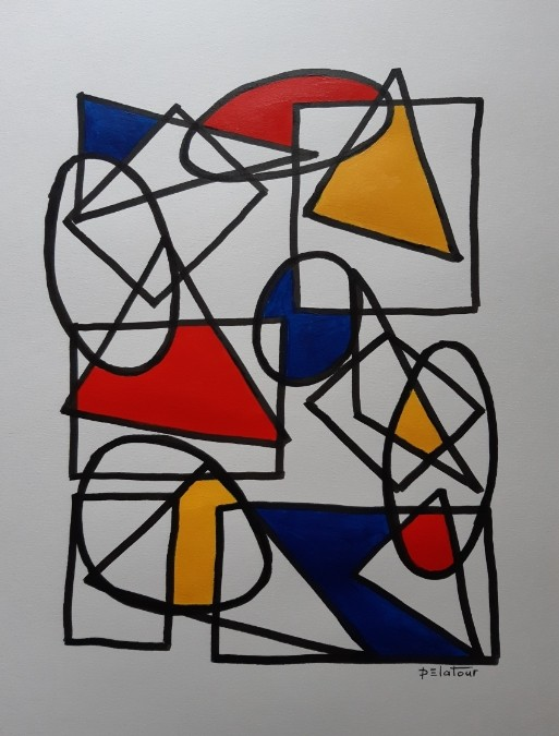 AP 25 Acrylic on paper 50X64 cm