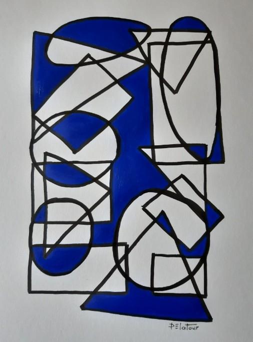 AP 26 Acrylic on paper 50X64 cm