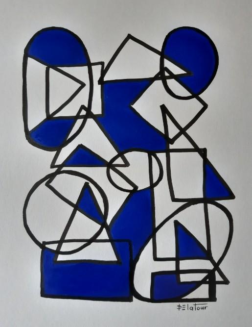 AP 27 Acrylic on paper 50X64 cm