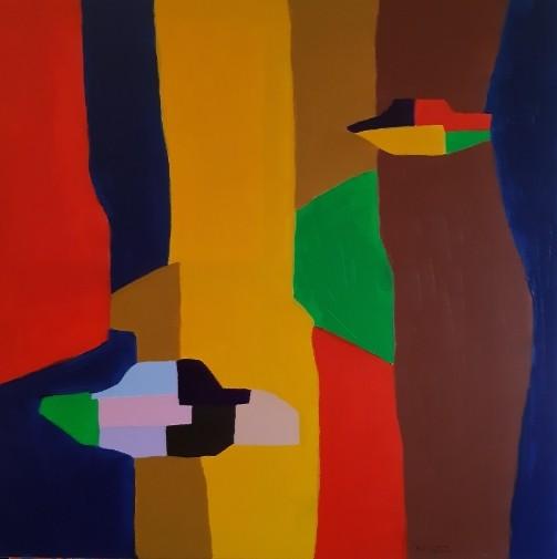 AP8 Acrylic on canvas 80X80 cm