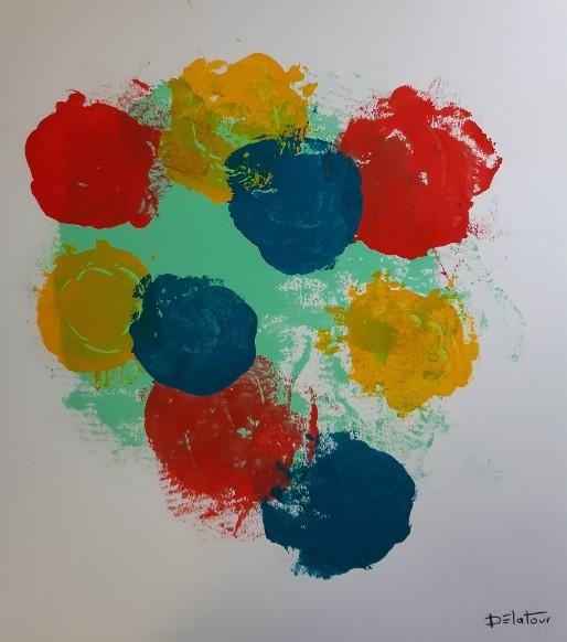 Bap 1 - acrylic on paper 50X50 cm