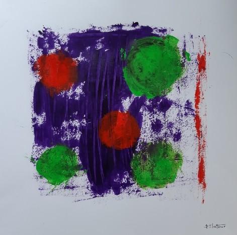 Bap 13 - acrylic on paper 50X50 cm