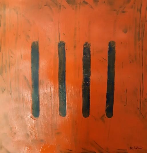 Bap 5 - acrylic on paper 50X50 cm