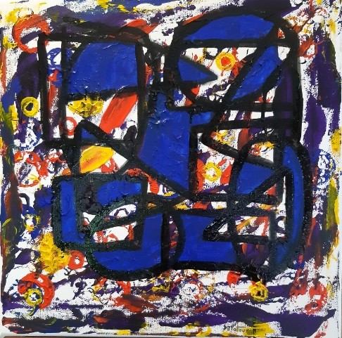 BAP color - acrylic on canvas 50 X 50 cm