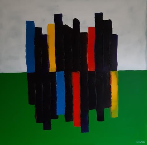 imagine vert - acrylic on canvas 100X100 cm