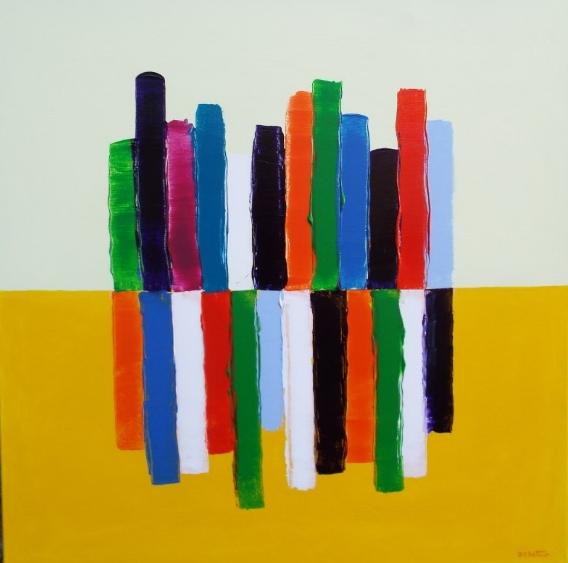jaune - acrylic on canvas 100X100 cm