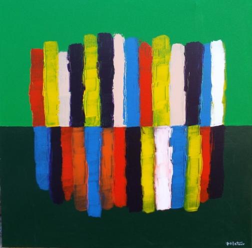 vert - acrylic on canvas 100X100 cm